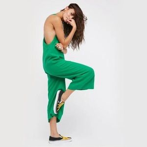 Free People On the Run Jumpsuit in Green